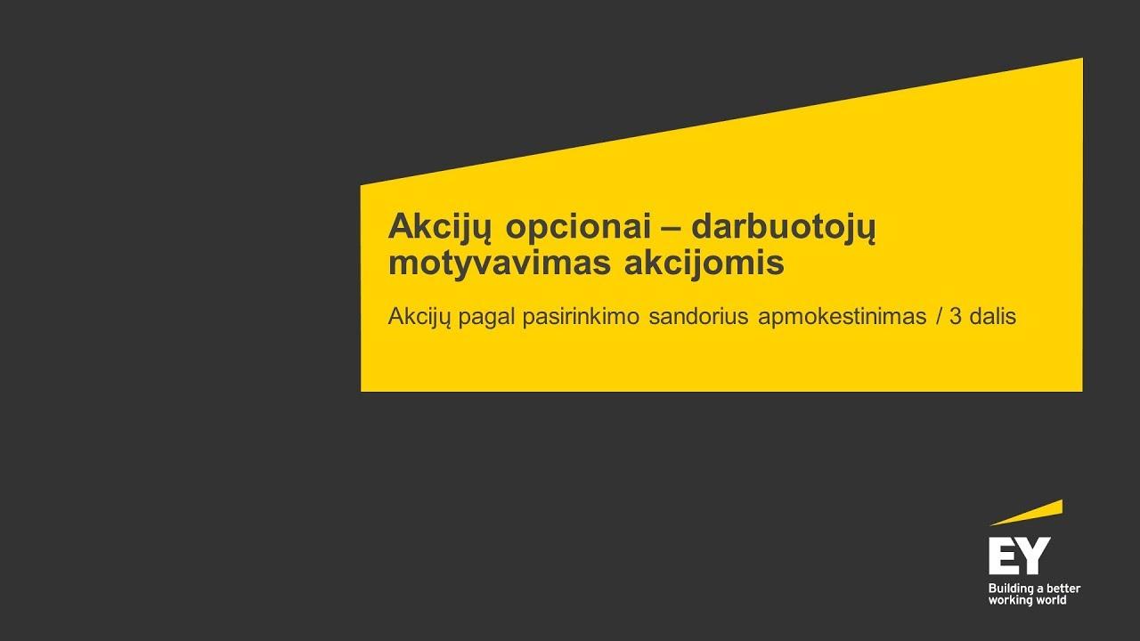 Opcionai keičiasi tuo, Seimas nuo mokesčių atleido pajamas iš akcijų opcionų - Verslo žinios