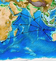 kurie prekiavo indijos vandenyno jūrų sistemoje