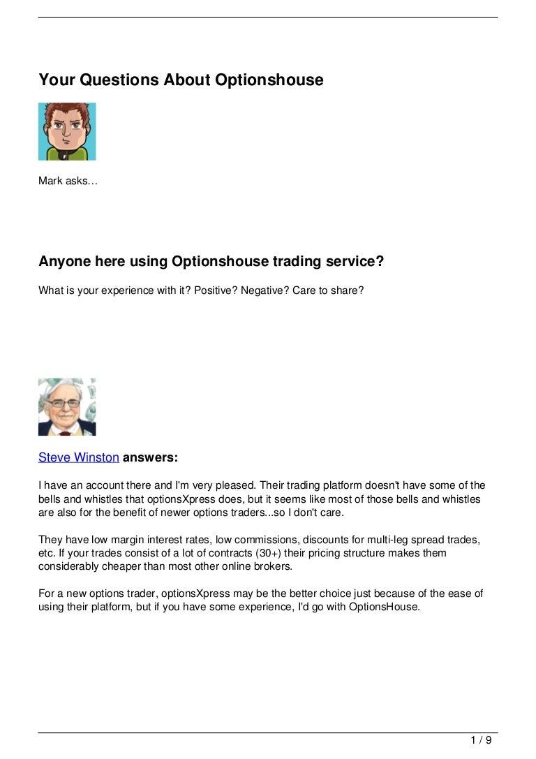 optionhouse vs tradeking